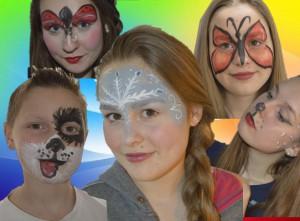 Kinderschminken im Märchenparadies